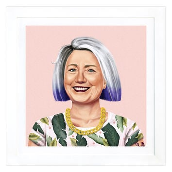 iCanvas Hillary Clinton by Amit Shimoni (Framed) - White