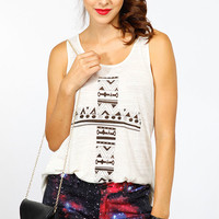 Tribal Print Cross Tank