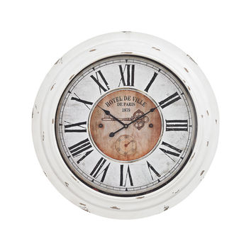 351-10246 Theodore Wall Clock In Antique White