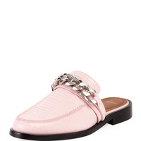 Givenchy Lizard-Embossed Chain Loafer Mule