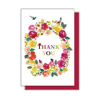Floral Thank You Enclosure Card