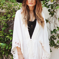 Summer Lace Hollow Out Patchwork Tops Jacket [7767260167]
