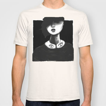 Contemporary Black and White Collar  T-shirt by Ben Geiger