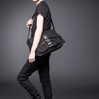 Messenger Bag with Leather Buckle | Bags | Bags + Wallets | Accessories | Queen Of Darkness