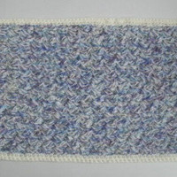A New Hand Crocheted Reversable Dog or Cat Rug/Mat For Medium Sized Pets