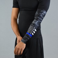 Thin Blue Line Flag Digicamo Arm Sleeve