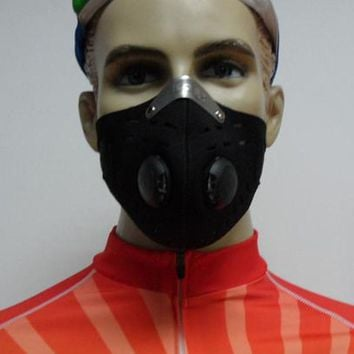 Black Anti Dust Training Mask Cycling Bicycle Bike Motorcycle Racing Ski Half Face Mask Filter Mask Winter Facial Mask