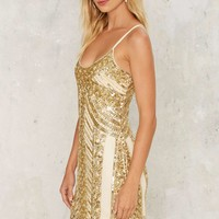 Sequin Your Love Mini Dress - Gold