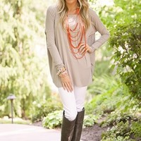 Marry Me PIKO Top Light Brown