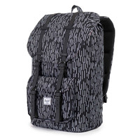 Herschel Supply Co.: Little America Backpack - Black / White Rain Camo / Black Rubber
