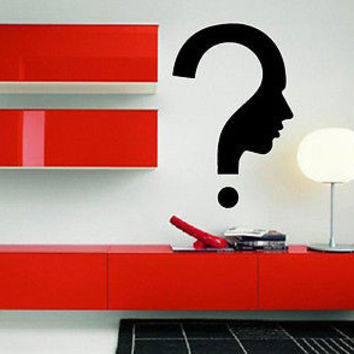 Human Question Philosophy Entertainment Decor Wall Mural Vinyl Art Sticker M375