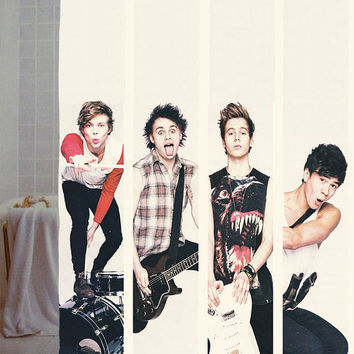 "5sos collage ,5 seconds of summer Custom Shower Curtain available size 66"" x 72"", 60"" x 72"",48"" x 72"""