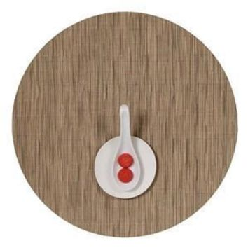 CHILEWICH Bamboo Round Placemat S/4 | Camel