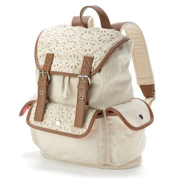 Candie's Peyton Crochet Backpack