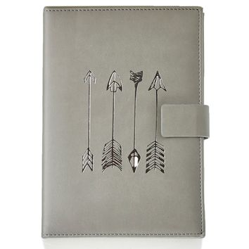 Silver Arrows Faux Leather Journal 611618711