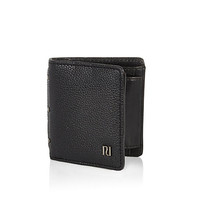 River Island MensBlack pebbled wallet