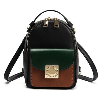Women Backpack Black Mini Rucksack Fashion High Quality PU Leath bc0a1089e25fa