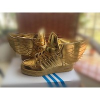 adidas jeremy scott wings 2 0 gold men women sneaker