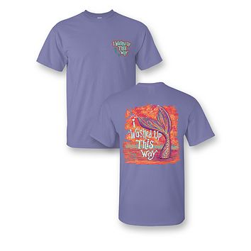 Sassy Frass I Washed Up This Way Mermaid Tail Purple Bright Girlie T Shirt
