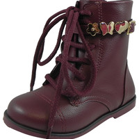 Pampili Girl's Rubi Bota Boot with Strap Cherry