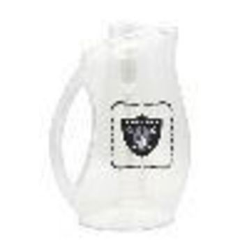 RAIDERS ACRYLIC INFUSER PITCHER WITH COLOR CAP & HANDLE - 3 LITER CAPACITY