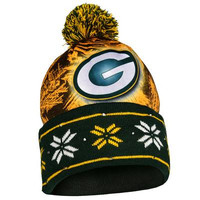 Green Bay Packers Official NFL Big Logo Light Up Printed Beanie
