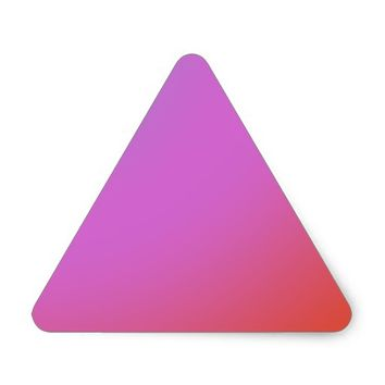 pink color red color white color triangle sticker