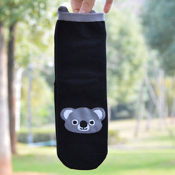 10% OFF (Code: PEPA10) Koala Unisex funny socks, animal socks, cozy feet, ankle socks, crazy socks