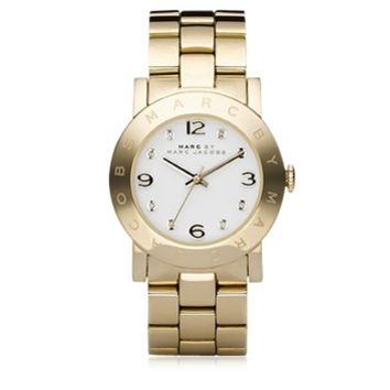 Marc by Marc Jacobs Designer Women's Watches Amy 36 MM Gold Tone Stainless Steel Women's Watch