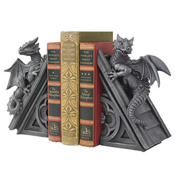 Park Avenue Collection Gothic Castle Dragon Bookends