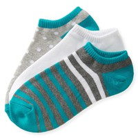3-Pack Striped Mix Ped Socks