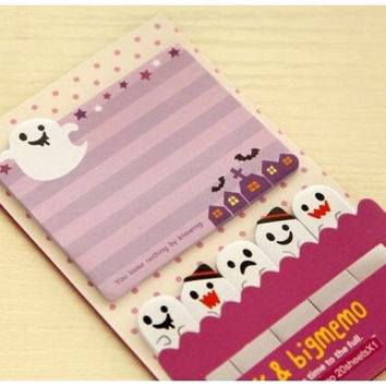 Sticky Post It Memo Note Pad - Halloween Ghost buster 120 sheets SS291