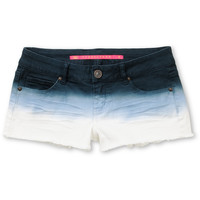 Tinsel Town Blue Dip Dye Ombre Cut Off Shorts at Zumiez : PDP