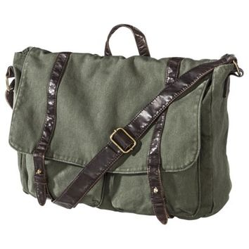 Mossimo Supply Co. Military Messenger Bag - Green