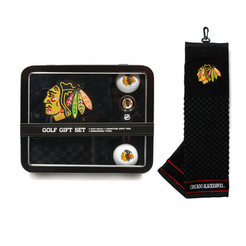 Chicago Blackhawks Golf Gift Set with Towel