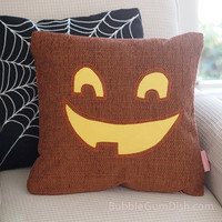 Jaclyn the Jack o Lantern Pumpkin Pillow Cover Halloween Decor 18 x 18