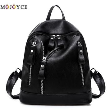 Women Backpacks 2017 Hot Sale Fashion Causal Bags High Quality Bead Female Shoulder Bag PU Leather Backpacks For Girls
