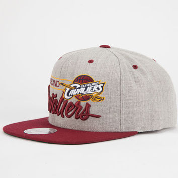 Mitchell & Ness Cleveland Cavaliers Mens Snapback Hat Grey One Size For Men 25700711501