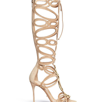 SERGIO ROSSI Farrah Gladiator Cutout High-Shaft High Heel Sandals