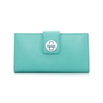 Tiffany & Co. -  Continental wallet in Tiffany Blue® grain leather. More colors available.