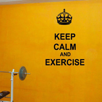 Wall Decor Vinyl Sticker Room Decal Decor Keep Calm And Exercise, Love Dogs, Eat Cupcakes Signs Inspirational Quotes