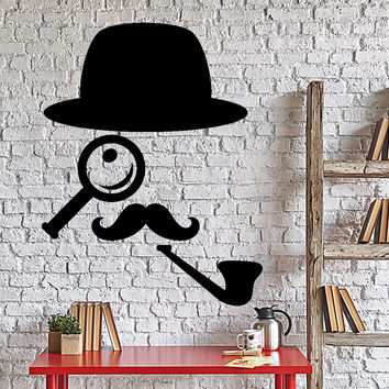 Wall Vinyl Decal Detective Sherlock Holmes London Home Interior Unique Gift z4022