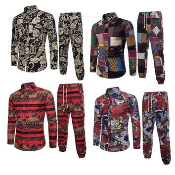 Europe Ethnic Style Male Tracksuit ~ Big Size up to 5XL
