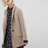 Leon and Harper Collarless Wool Jacket at asos.com