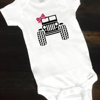 Jeep Baby Girl Onesuits® Bodysuit, Baby Girl Funny Onesuits® Bodysuit, Body Suit, Baby Onesuits® Bodysuit