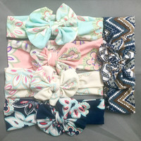Printed Messy Bow Headbands for Babies/Toddlers - 5 Styles
