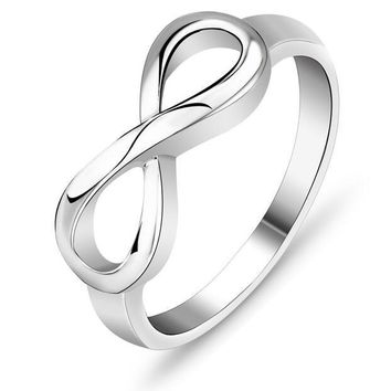 925 Sterling Silver Infinity Endless Love Symbol 8 Rings RI101137