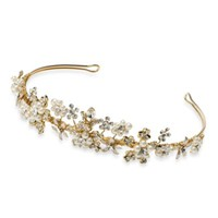 Sydney Austrian Goldtoned Crystal And Faux Pearl Tiara