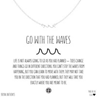 Go With The Waves Dainty Wave Necklace | Bryan Anthonys