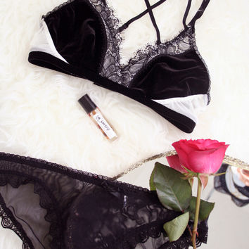Candice Bralette, Panty & Perfume Gift Set